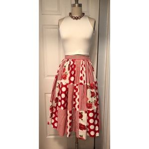 Dresses & Skirts - 1950s vintage patchwork full skirt, small